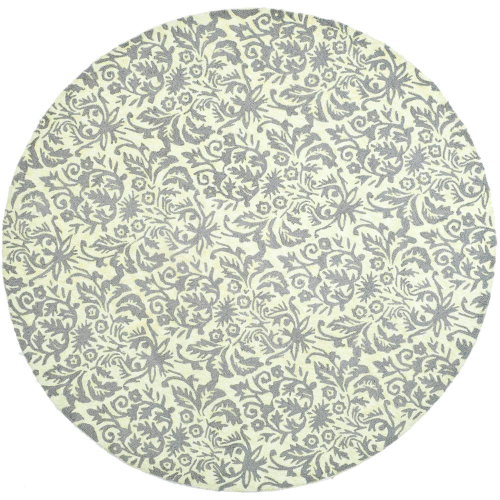 Chelsea Beige Yellow/Gray 8 ft. x 8 ft. Round Area Rug