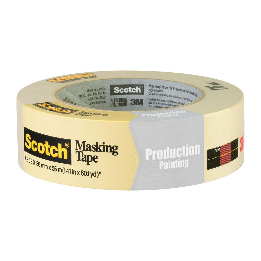 3M Scotch 1.41 in. x 60.1 yds. Painting Production Masking Tape