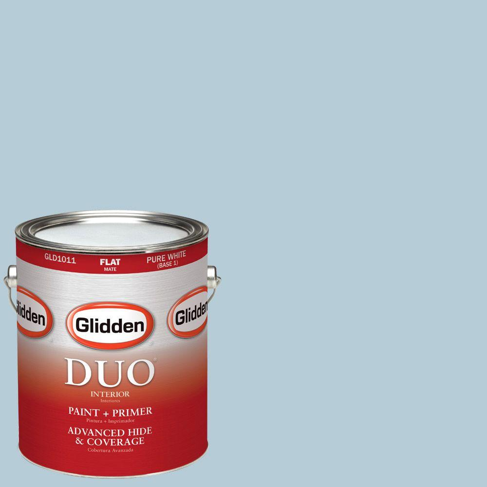 Glidden DUO 1-gal. #HDGB48D Stencil Blue Flat Latex Interior Paint with