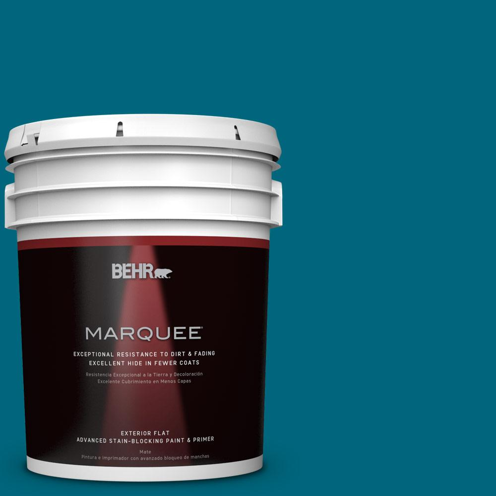 BEHR MARQUEE 5-gal. #P480-7 Striking Flat Exterior Paint-445305 - The Home