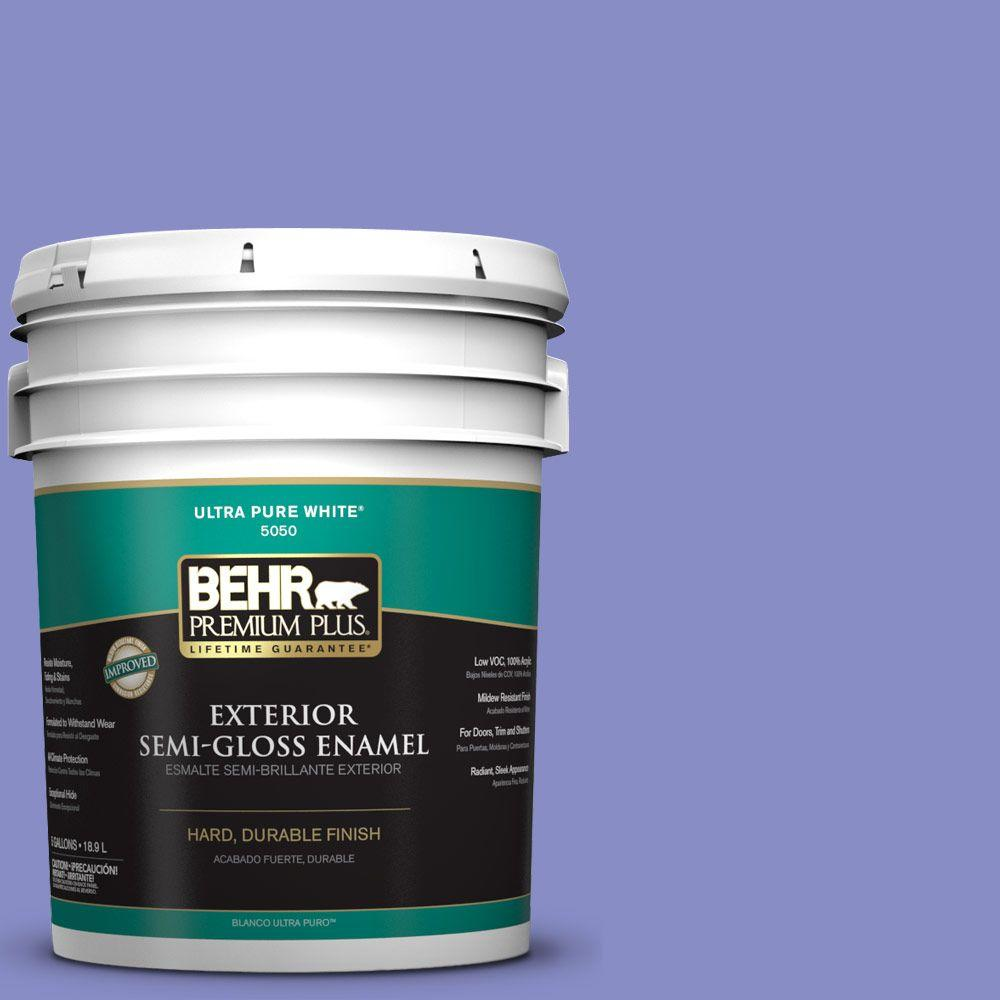 5-gal. #P550-5 Carriage Ride Semi-Gloss Enamel Exterior Paint