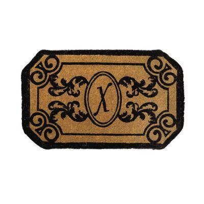 Perfect Home Kingston Rectangle Monogram Mat, 24 in. x 39 in. x 1.5 in. Monogram X-DISCONTINUED