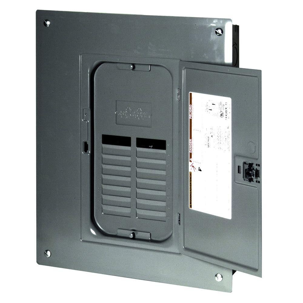 Square D QO 125 Amp 12-Space 12-Circuit Indoor Main Lug Load Center with Cover