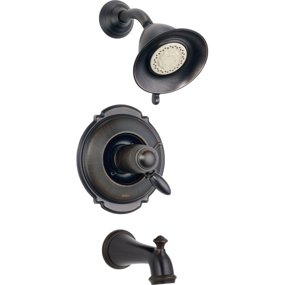 Delta Victorian TempAssure 17T Series 1-Handle Tub and Shower Faucet Trim Kit Only in Venetian Bronze (Valve Not Included)