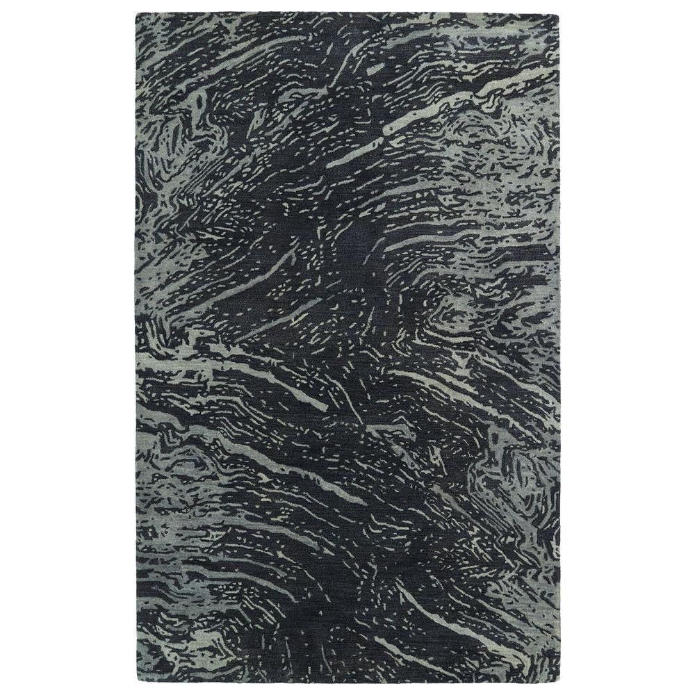 Brushstrokes Charcoal 2 ft. x 3 ft. Area Rug