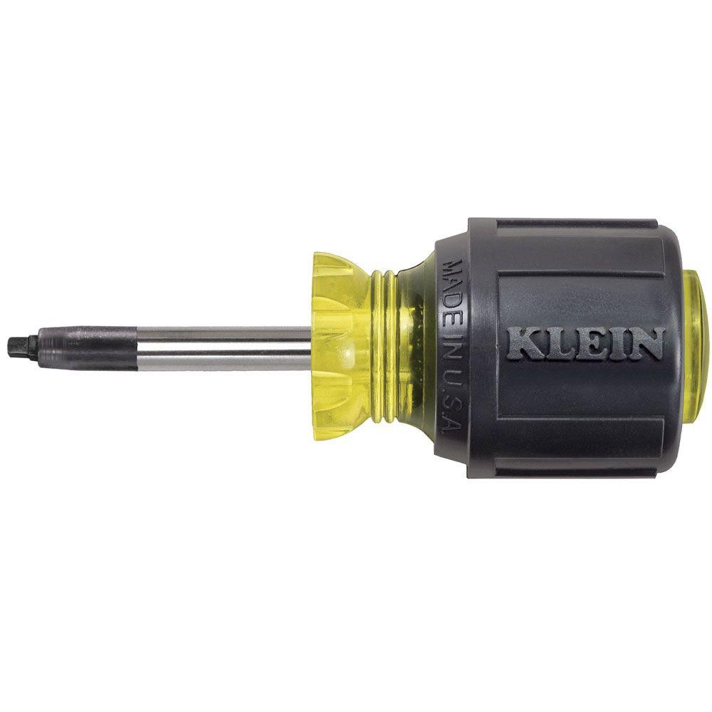 Klein Tools #2 Square-Recess Tip Screwdriver - 1-1/2 in. Round-Shank