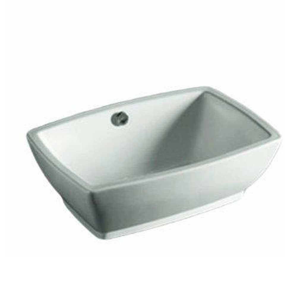 Whitehaus Collection Isabella Vessel Sink In White Whkn1065 Wh The Home Depot