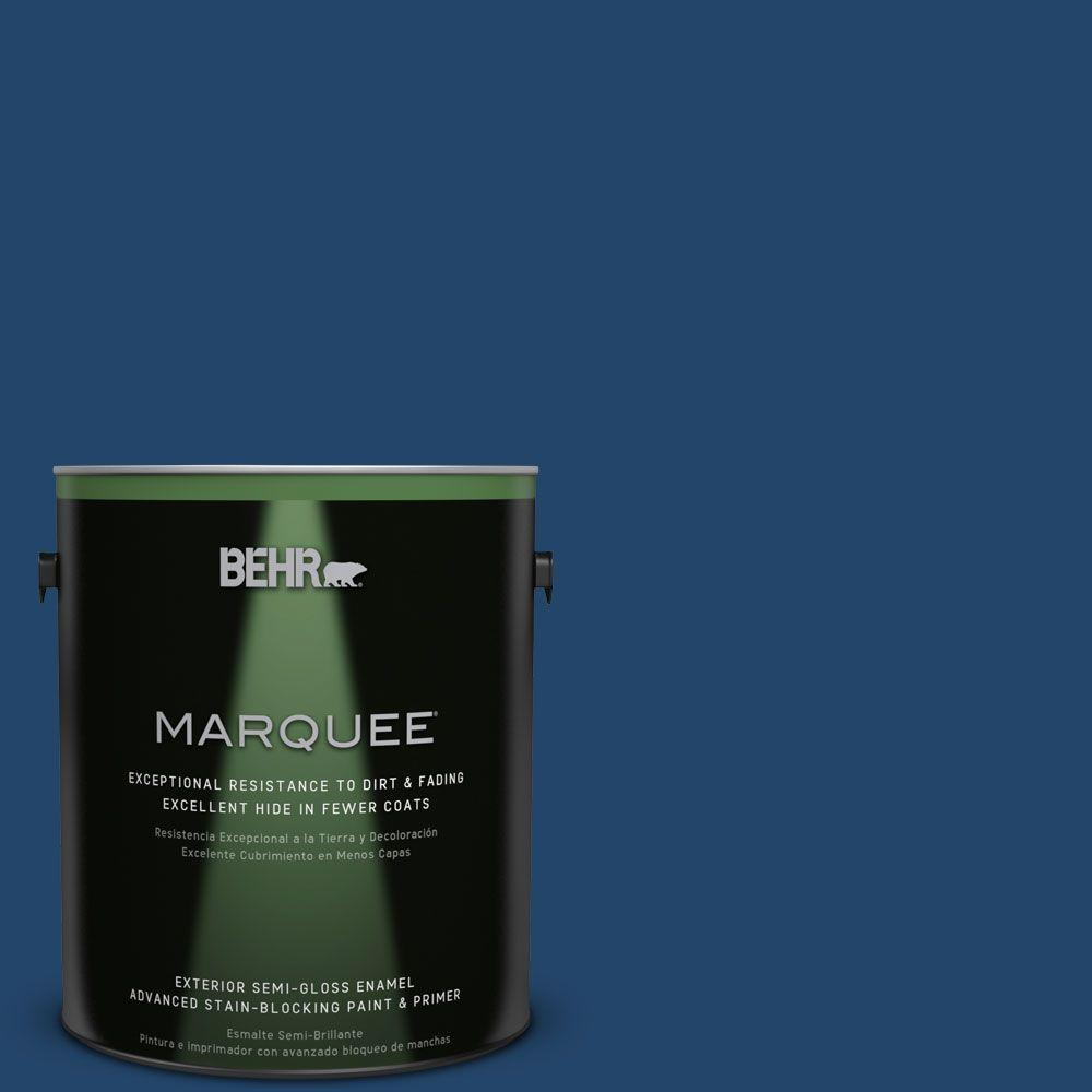 BEHR MARQUEE 1-gal. #PPF-57 Lake View Semi-Gloss Enamel Exterior Paint-545301 -