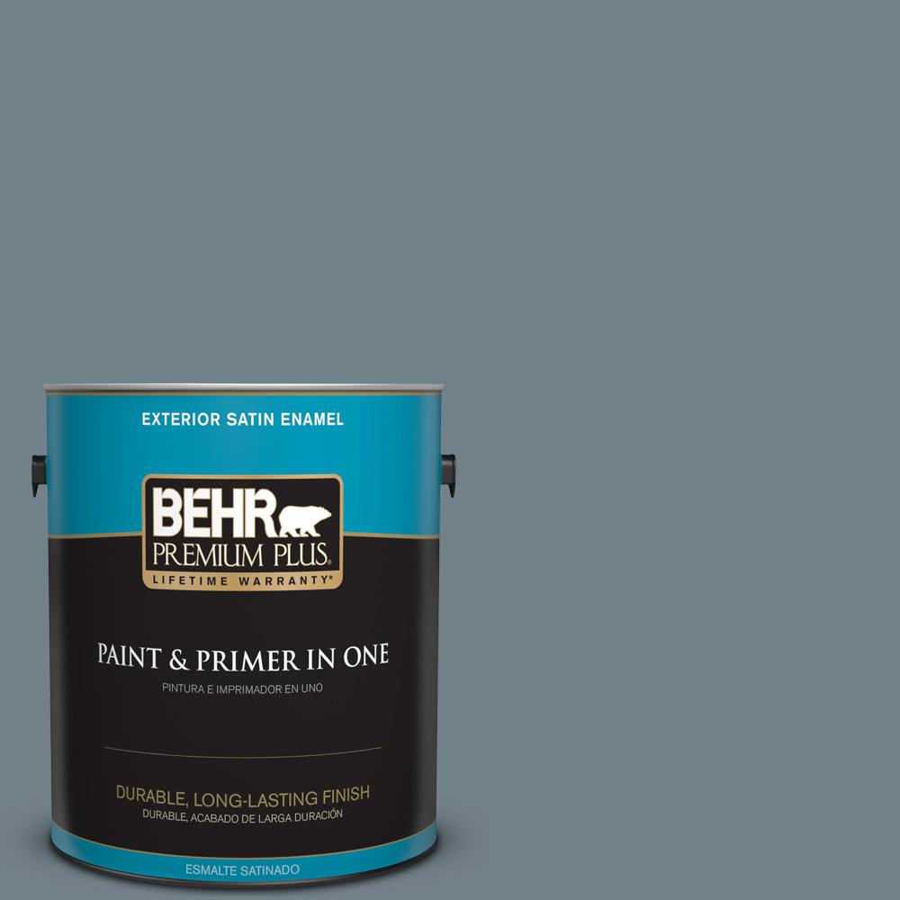 1 gal. #PPU13-04 Atlantic Shoreline Satin Enamel Exterior Paint