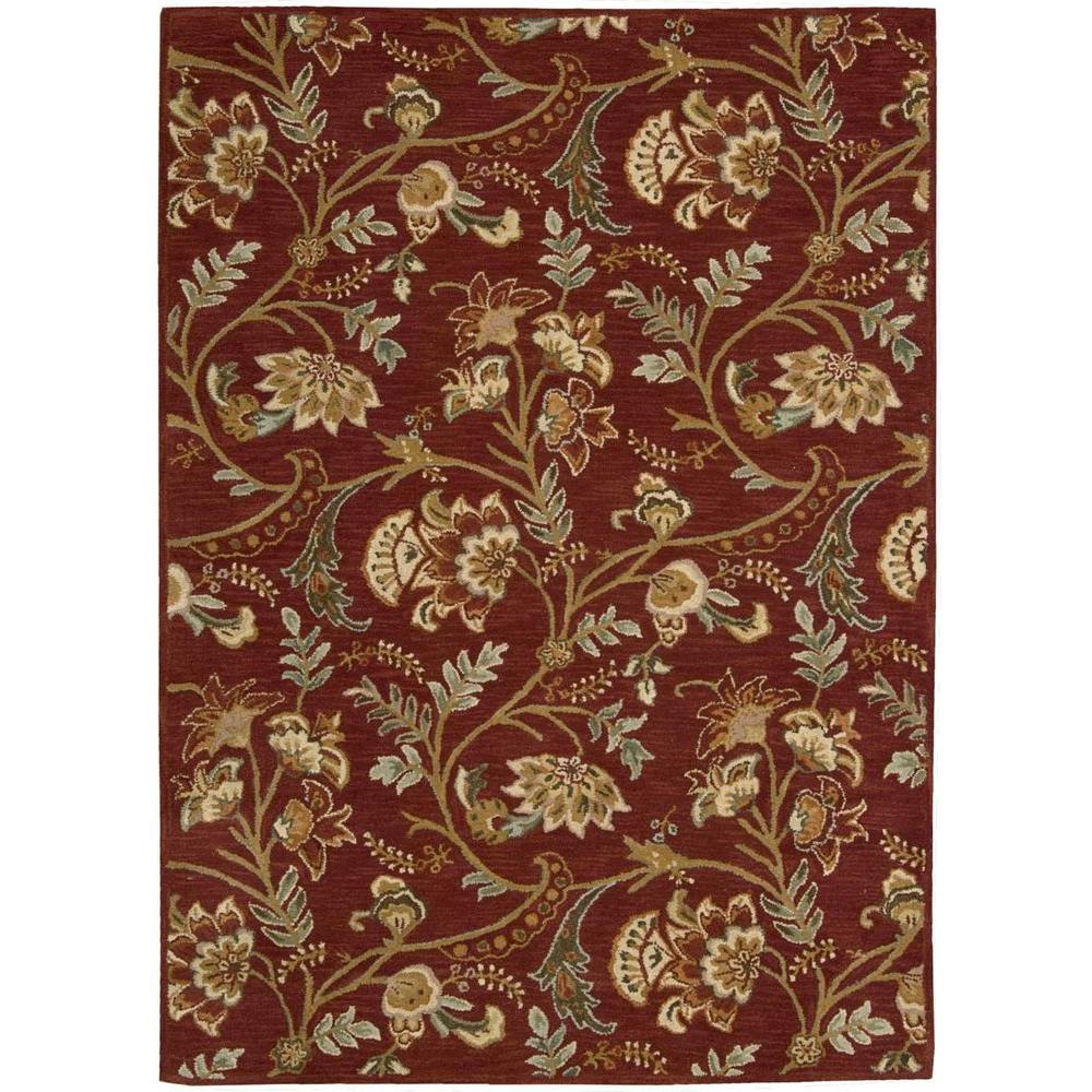 Nourison Overstock Firenze Red 5 ft. 3 in. x 7 ft.