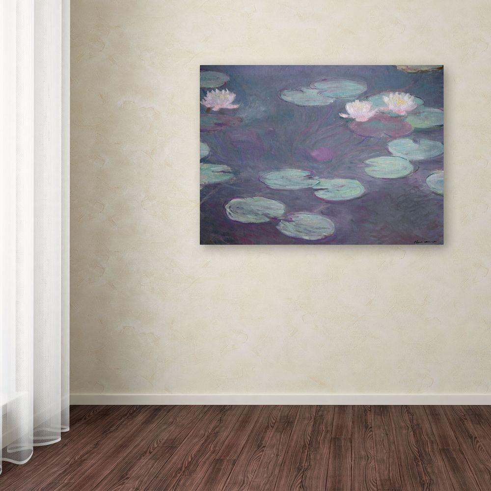 "14 in. x 19 in. ""Pink Lilies 1897-1899"" Canvas Art"