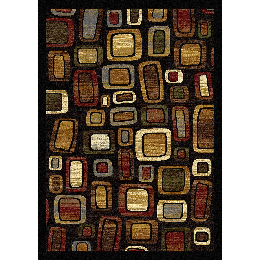 Home Dynamix Royalty Black/Multi 3 ft. 7 in. x 5 ft. 2 in. Indoor Area Rug