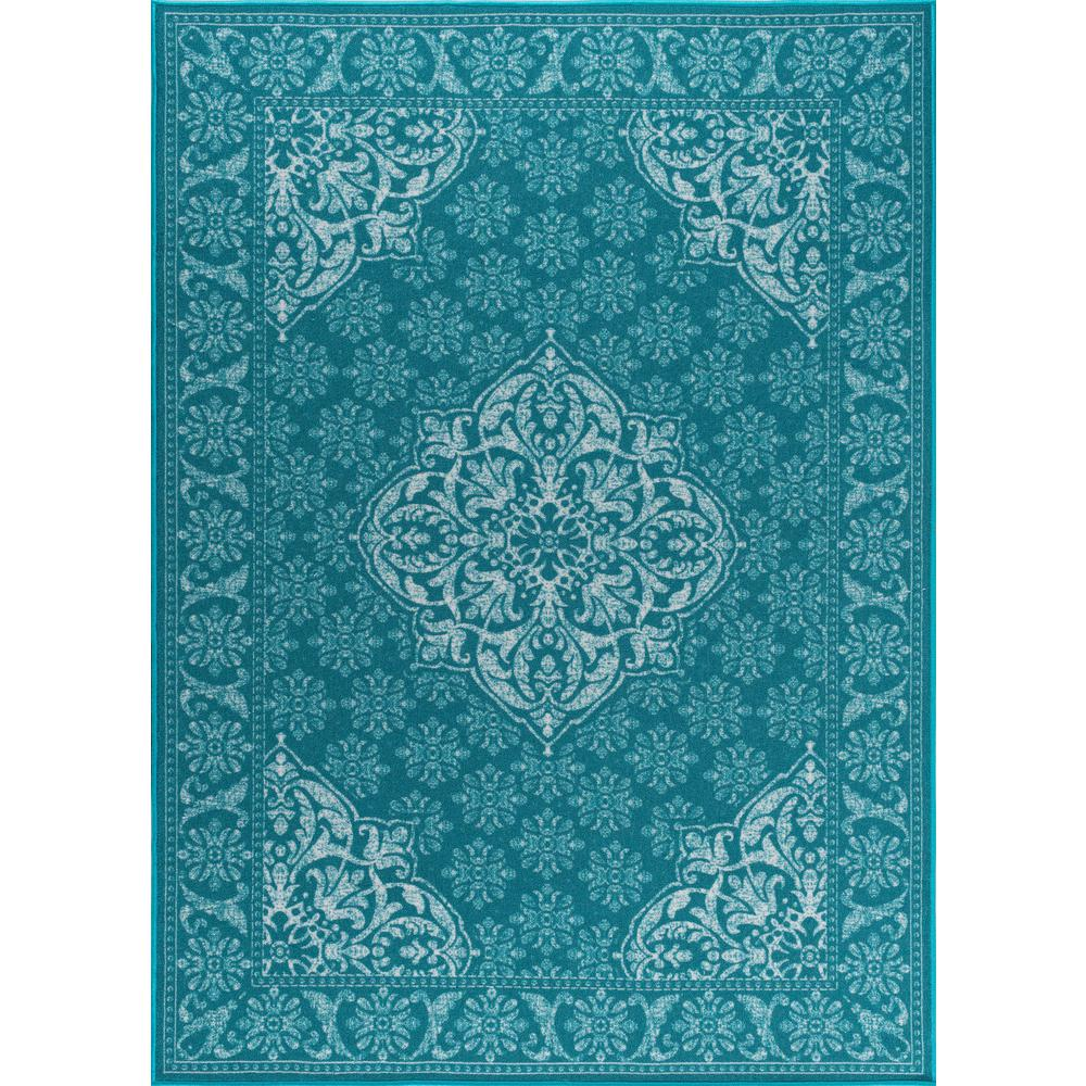 Majesty Teal 6 ft. 7 in. x 9 ft. 6 in.