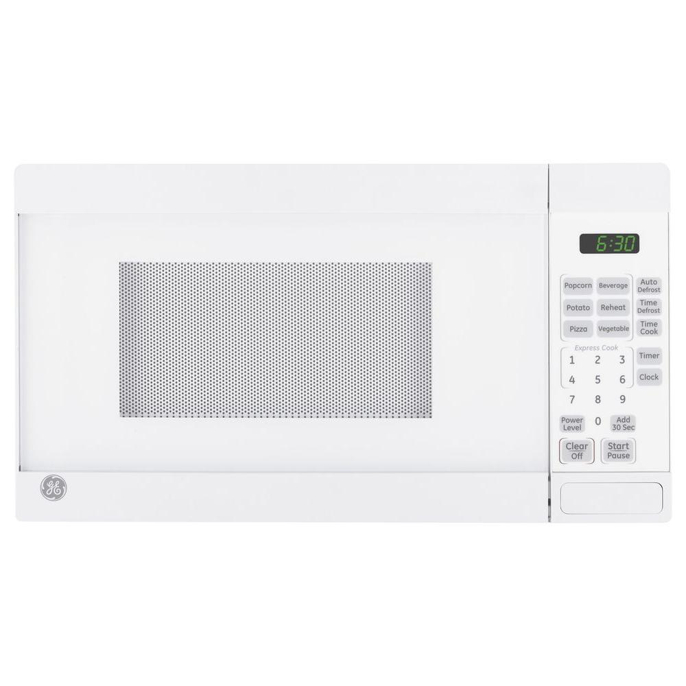 GE 0.7 cu. ft. Countertop Microwave in White