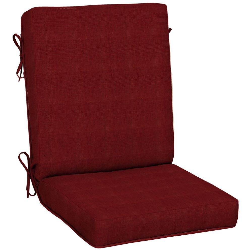 Hampton Bay Chili Quick Dry Outdoor Dining Chair Cushion-FF73212A-D9D1 - The