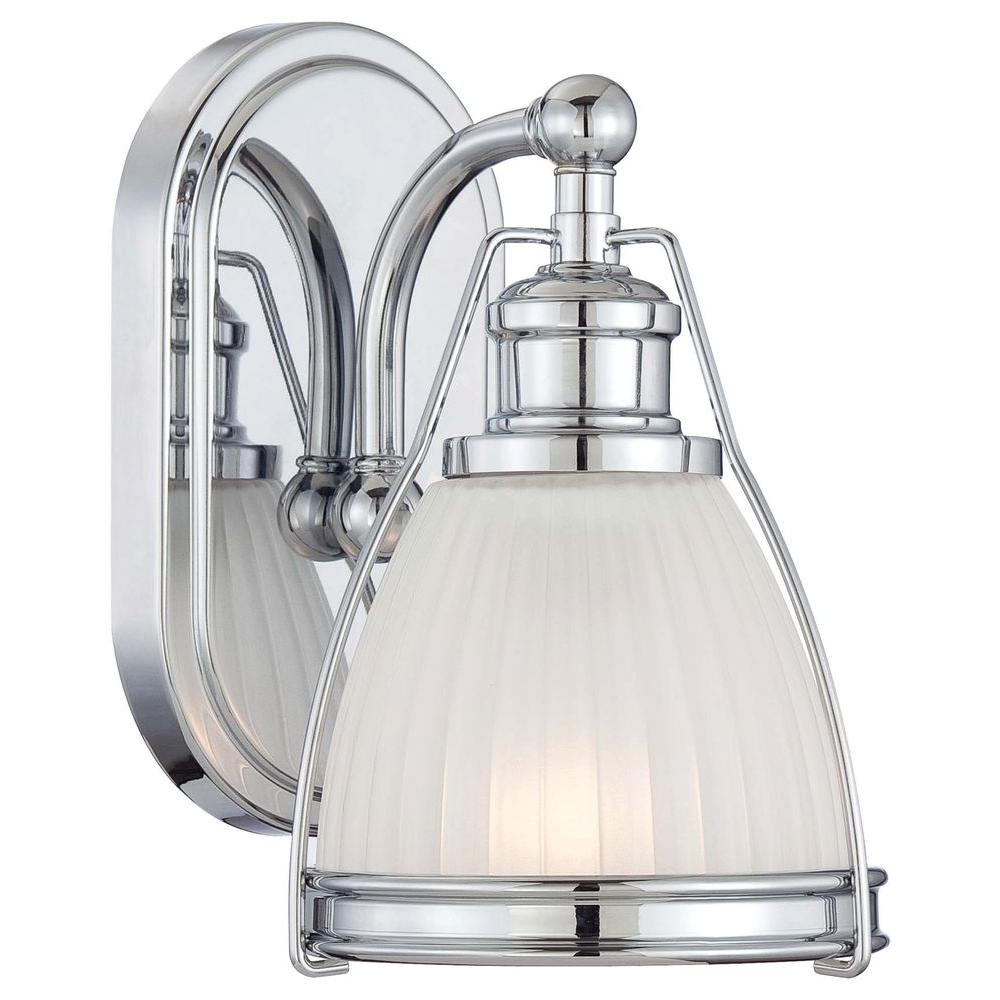 Bathroom Sconces At Home Depot minka lavery 1-light chrome bathroom sconce-5791-77 - the home depot
