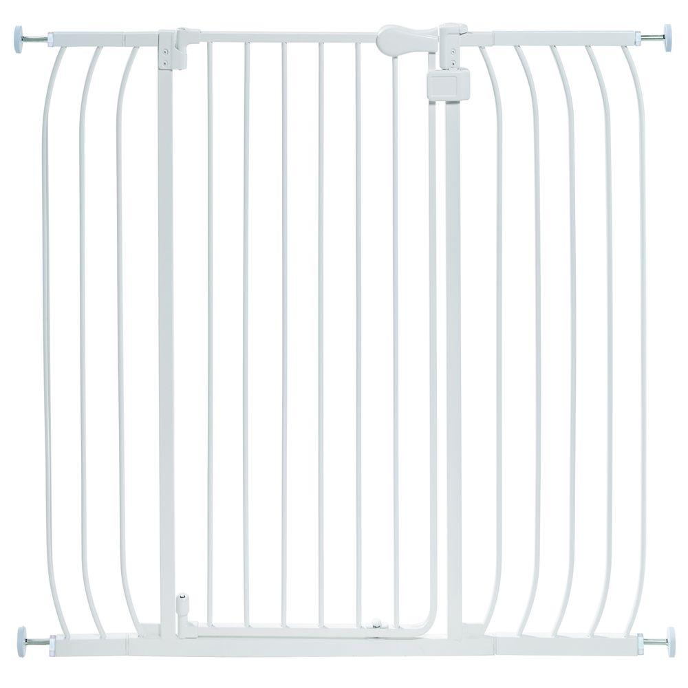 36 in. H Extra Tall Walk-Thru Multi Use White Gate