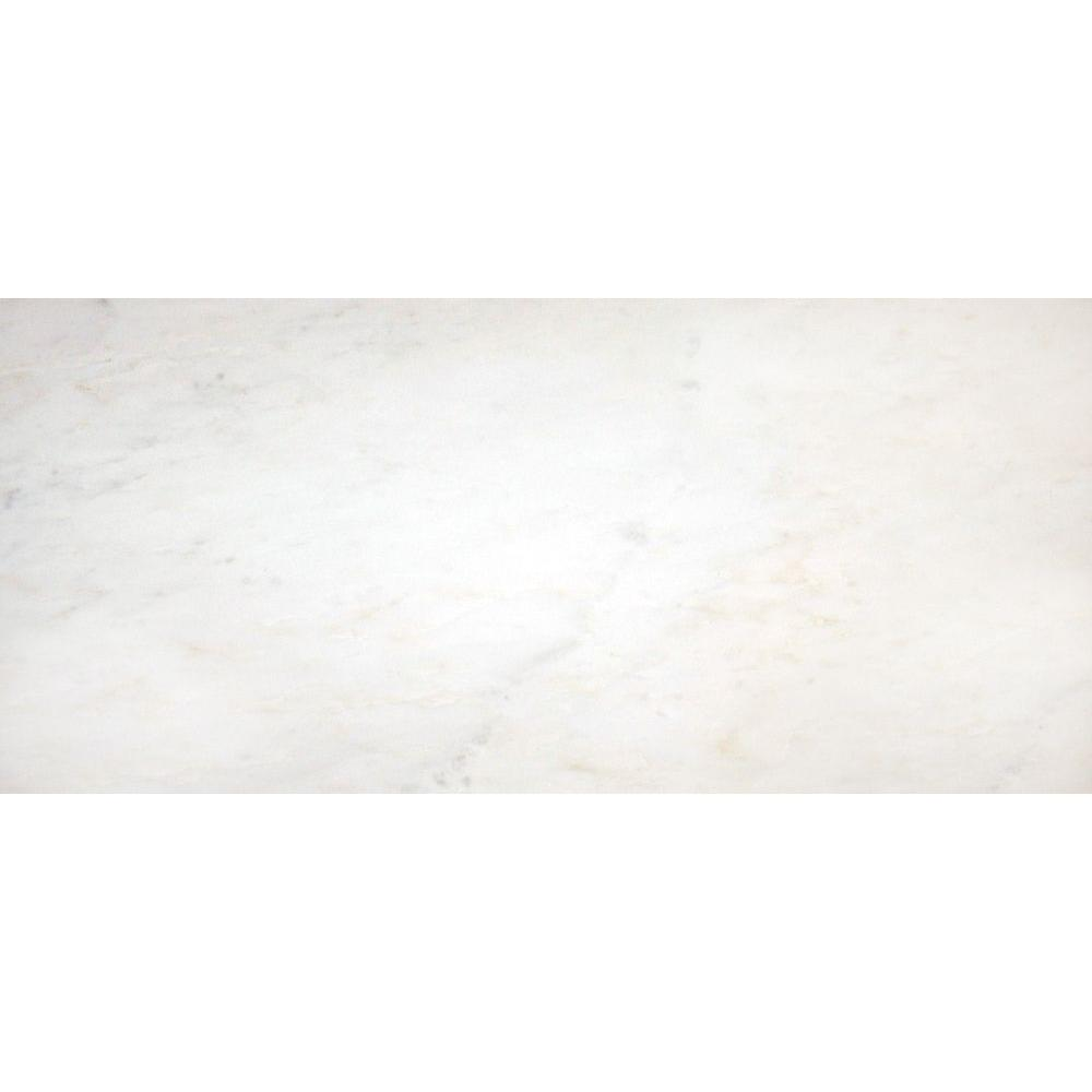 MS International Greecian White 12 in. x 24 in. Polished Marble