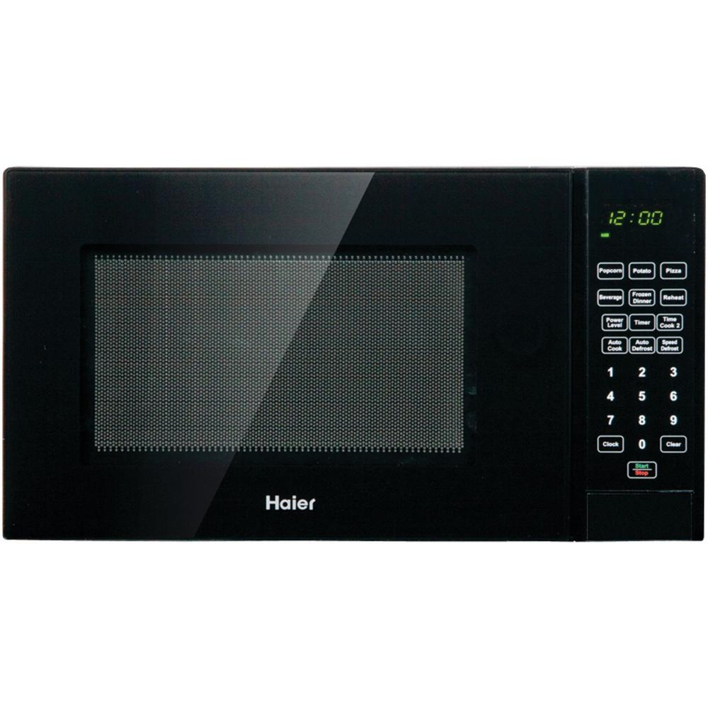 Haier 0.9 cu. ft. Countertop Microwave in Black-HMC920BEBB - The Home