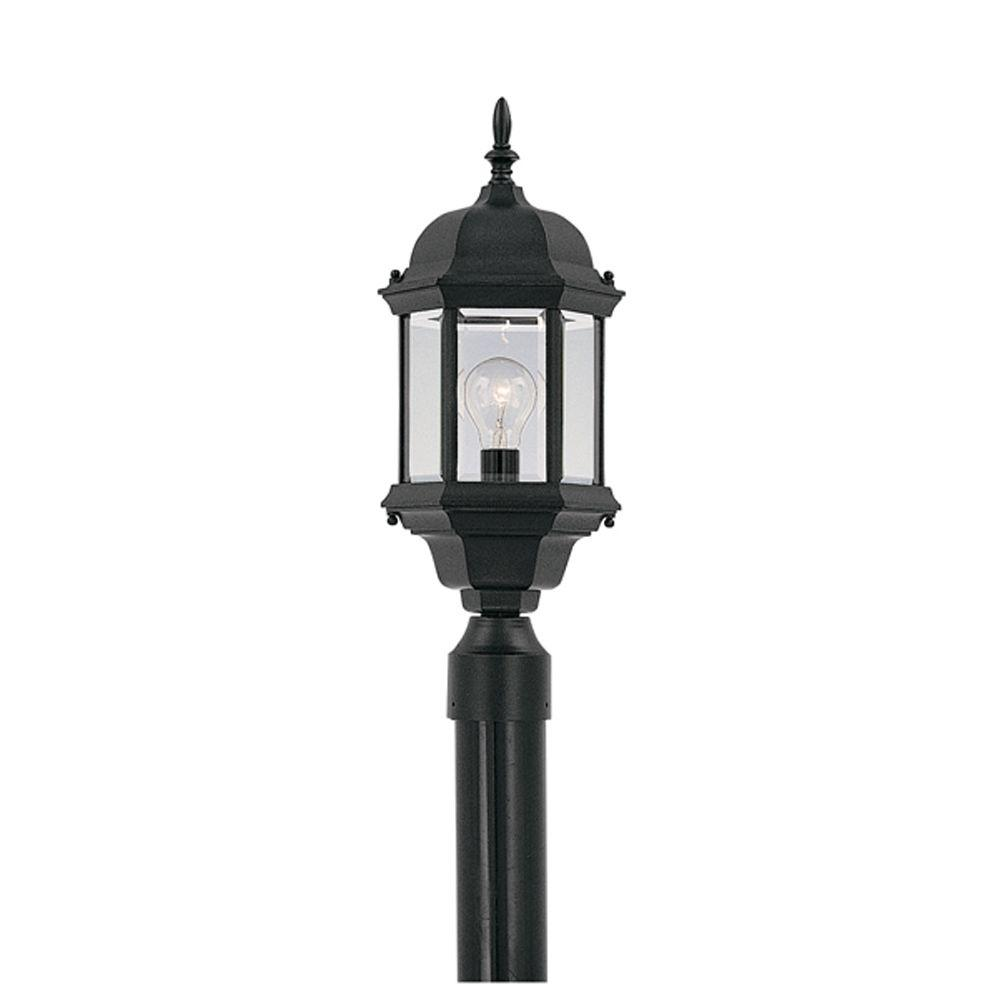 Designers Fountain Erving Collection Outdoor Black Post Lantern