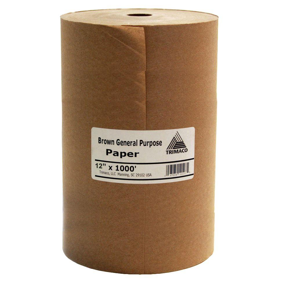 12 in. x 1000 ft. Brown Masking Paper