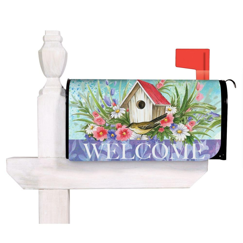 Evergreen Enterprises 18 in. x 24 in. Birdhouse Welcome Mailbox cover-DISCONTINUED