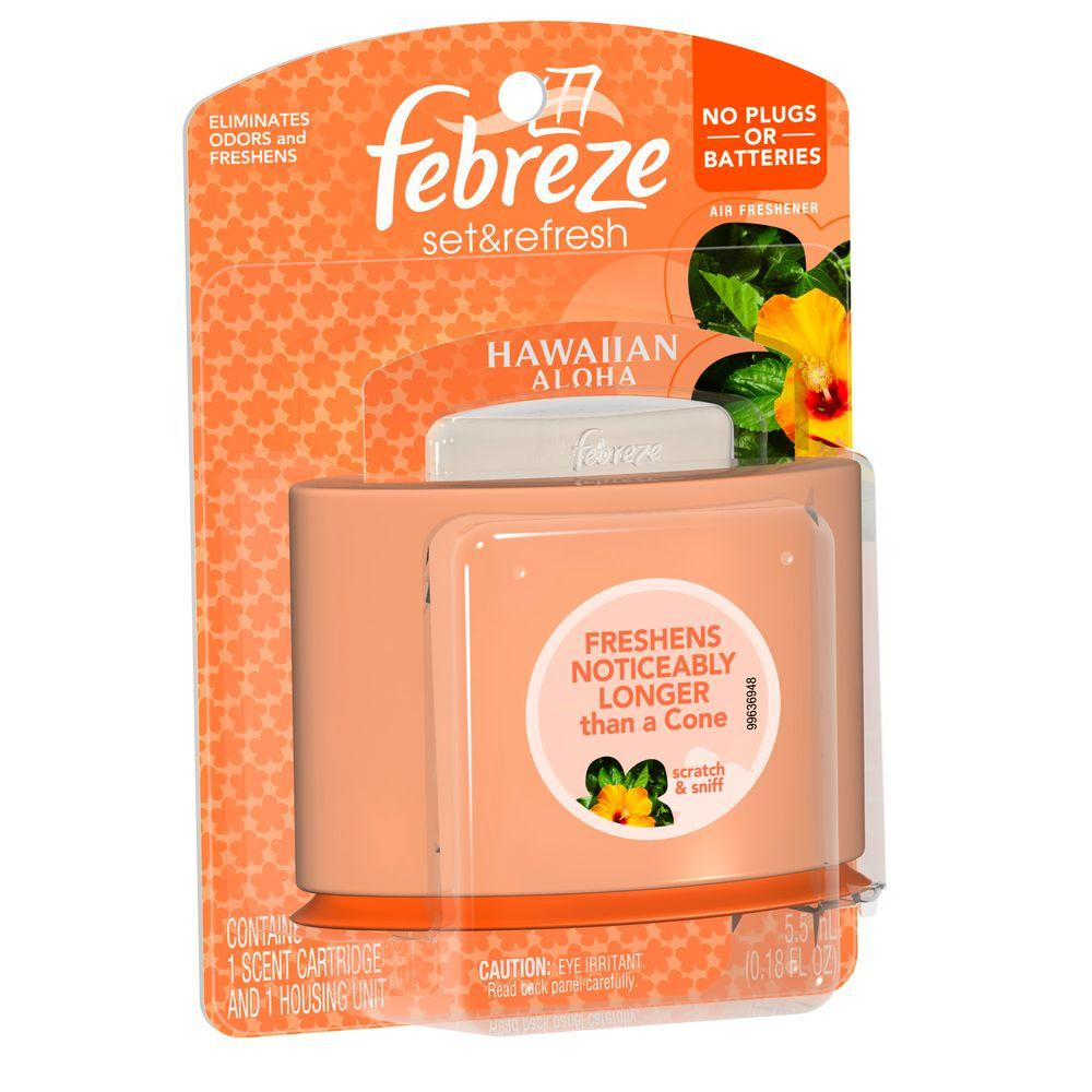 Febreze Set And Refresh 018 Oz Hawaiian Aloha Cartridge