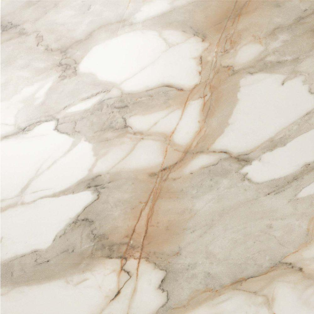 Impero Calacatta Oro 24 in. x 24 in. Polished Porcelain Floor