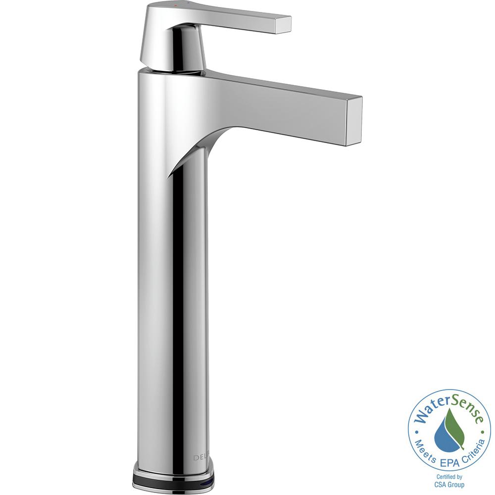 Zura Single Hole Single-Handle Vessel Bathroom Faucet with Touch2O.xt Technology