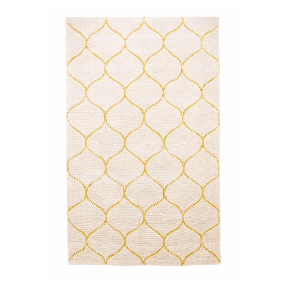 Kas Rugs Simple Scallop Ivory 8 ft. x 10 ft. Area
