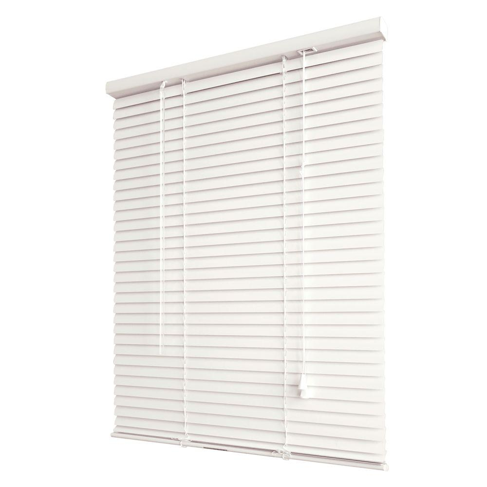Bali Today Alabaster 1 in. Aluminum Mini Blind - 31 in. W x 64 in. L-DISCONTINUED (Actual Size is 30.5 in. W x 64 in. L)