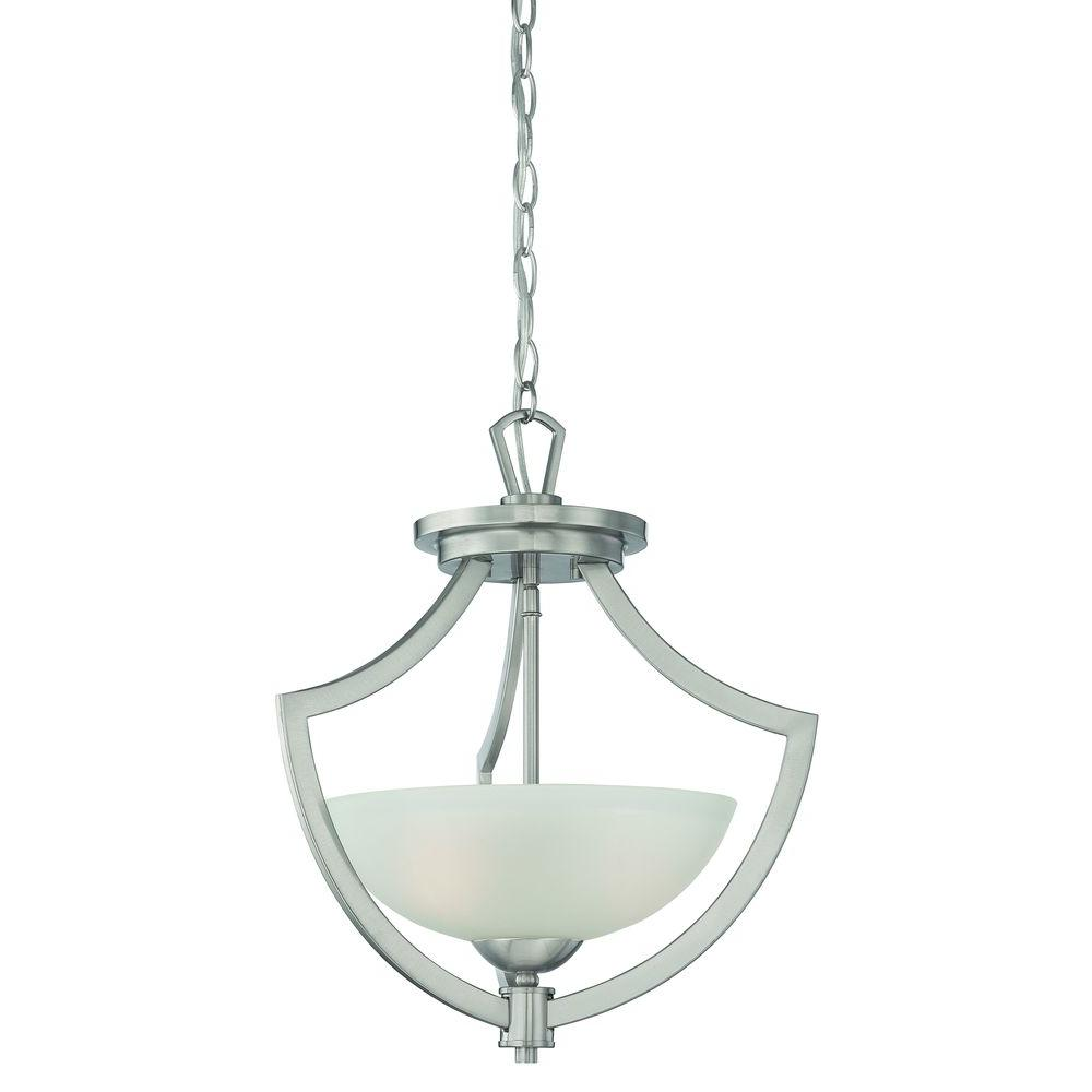 Thomas Lighting Charles 2-Light Brushed Nickel Pendant-DISCONTINUED