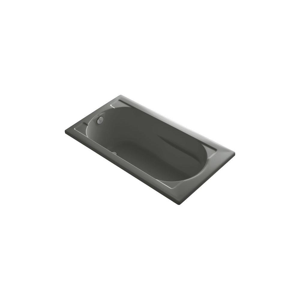 KOHLER Devonshire VibrAcoustic 5 ft. Reversible Drain Soaking Tub in Thunder Grey-DISCONTINUED