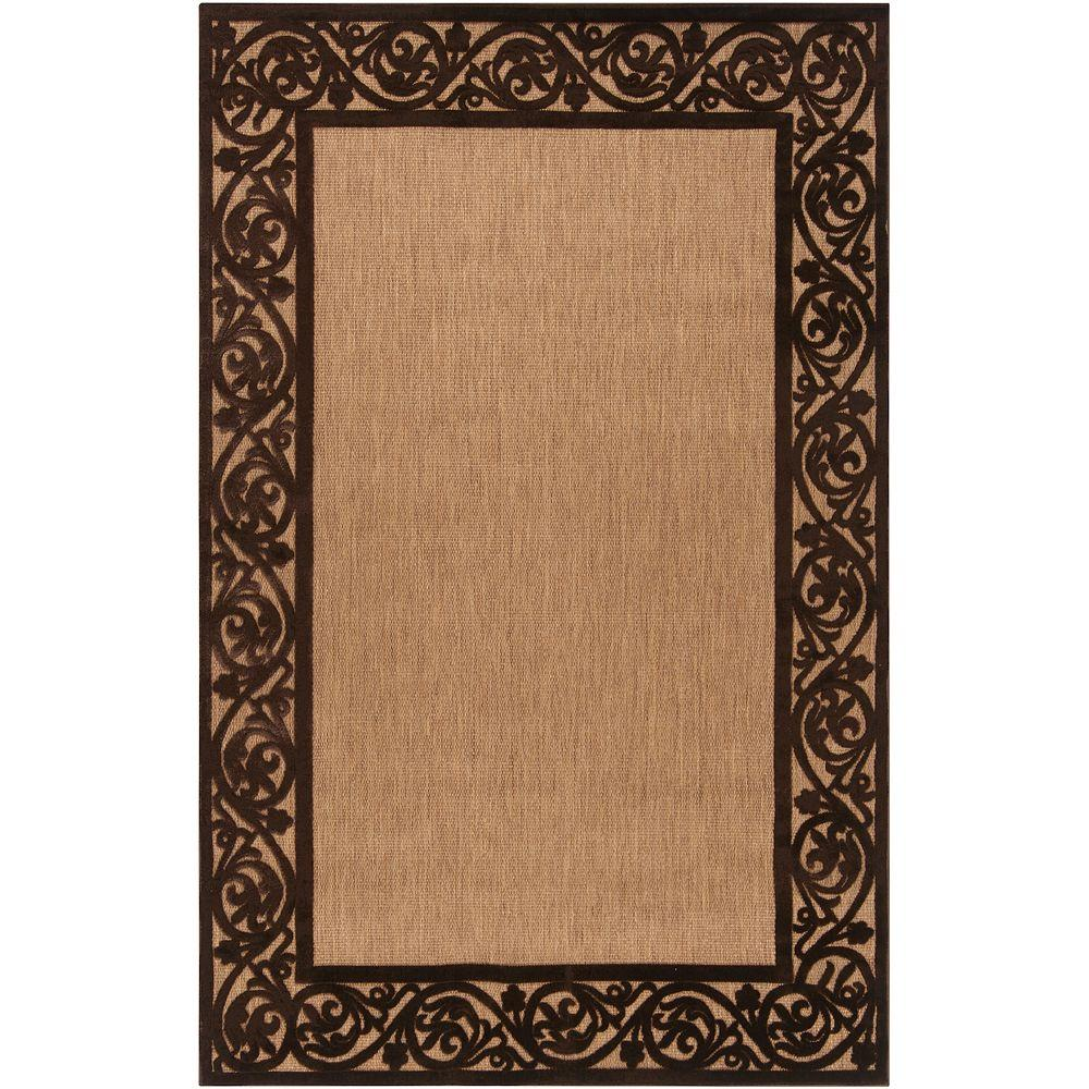 Artistic Weavers Garden View Chocolate 5 ft. x 7 ft. 6 in. Area Rug
