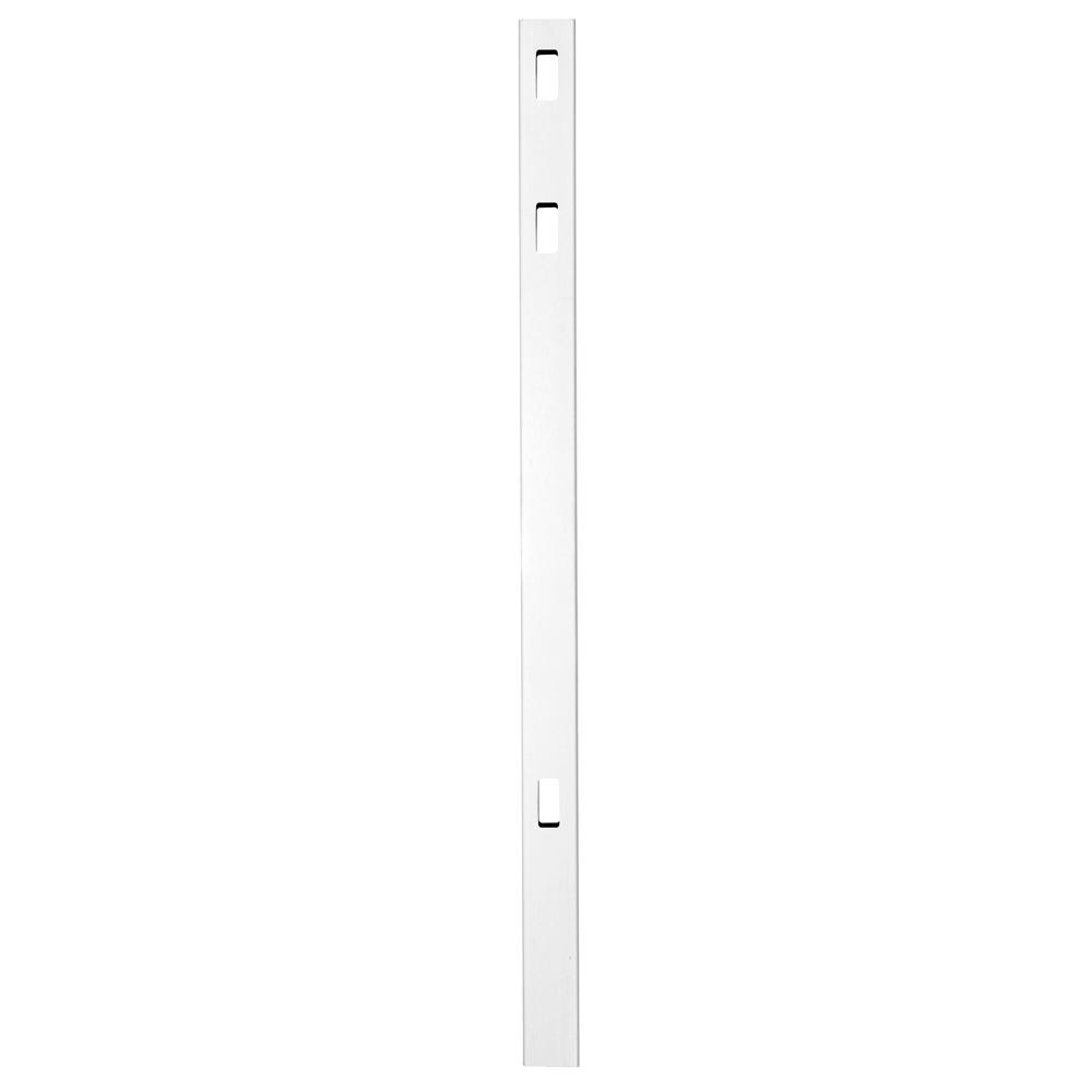 Veranda Pro Series 4 in. x 4 in. x 8 ft. White Vinyl Lafayette Spaced Picket Routed Line Fence Post