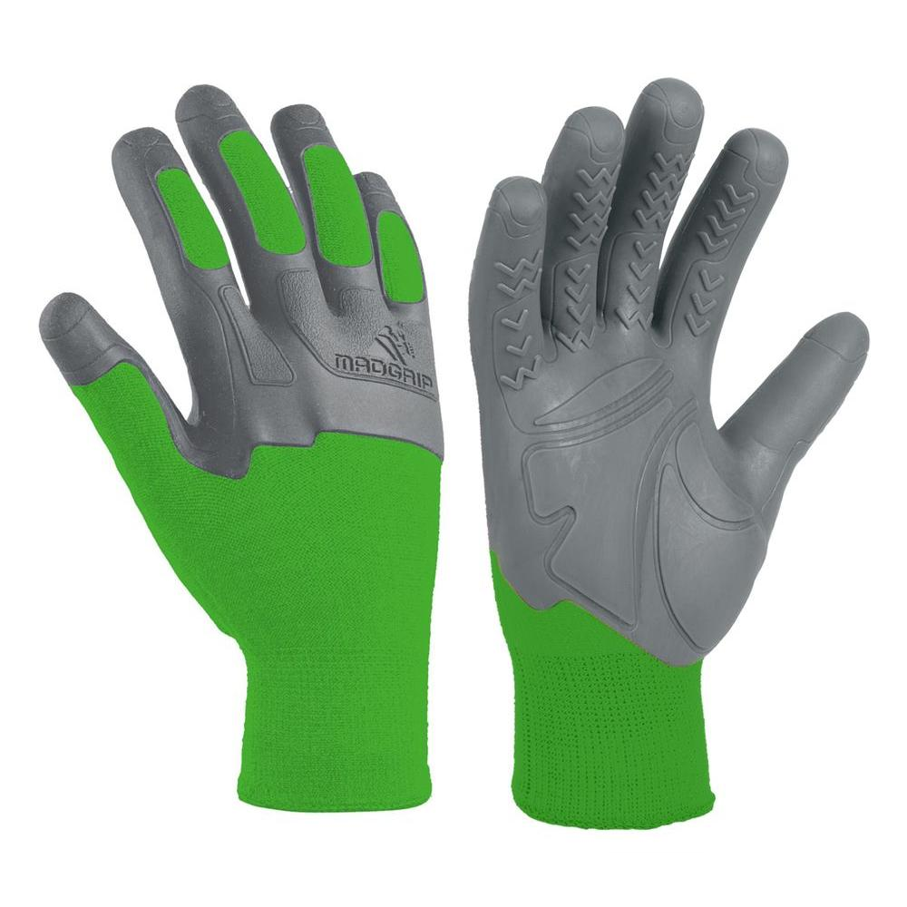 Mad Grip Pro Palm Knuckler Performance Small/Medium Work Glove with Grip Injection Technology