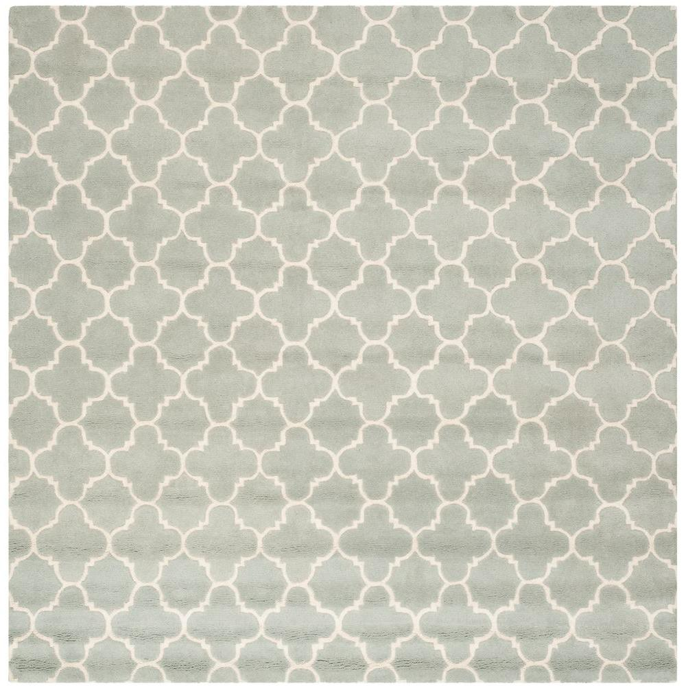 Safavieh Chatham Grey/Ivory 8 ft. 9 in. x 8 ft. 9 in. Square Area Rug