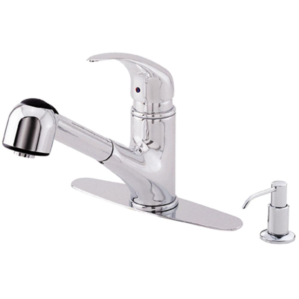 Danze Melrose Single-Handle Pull-Out Sprayer Kitchen Faucet in Chrome