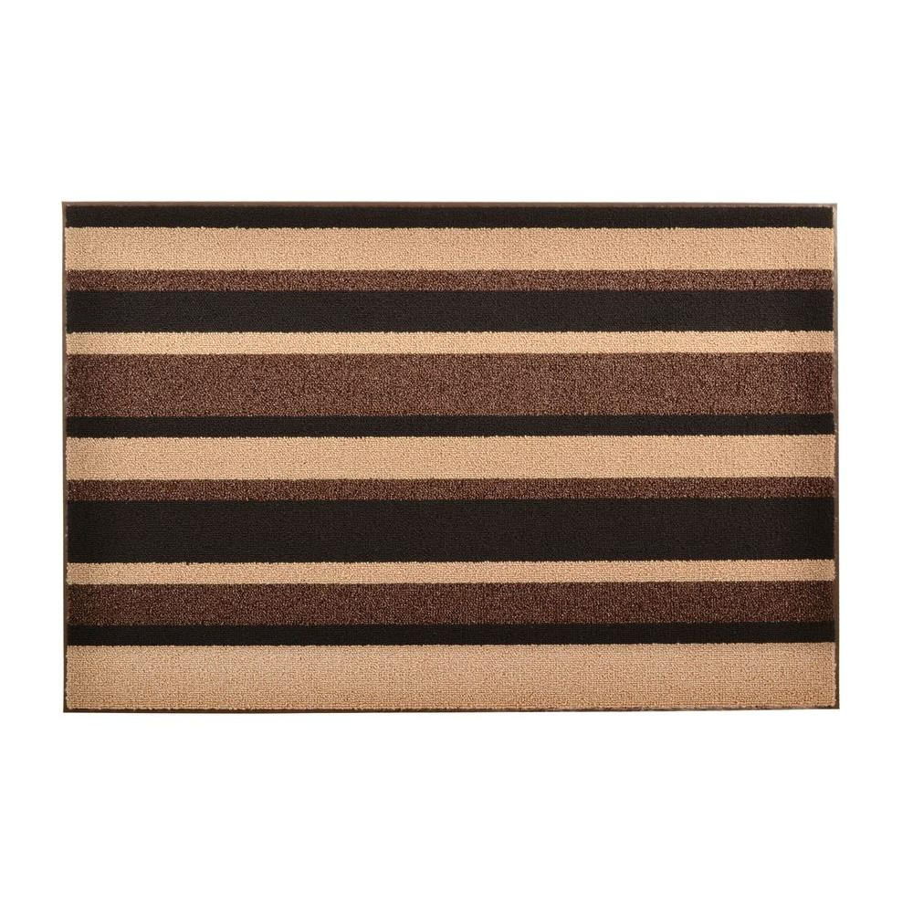 Textura Brown 18 in. x 30 in. Vinyl-Backed Entrance Mat