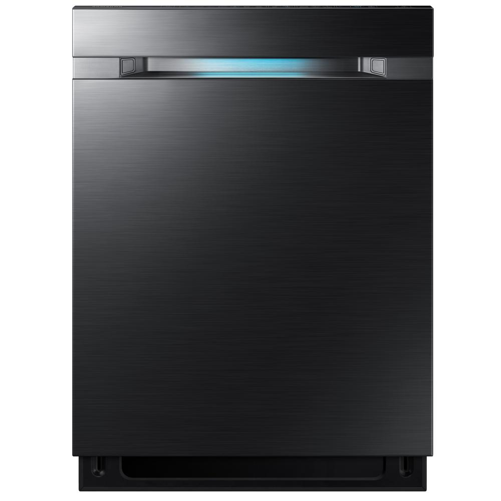 24 in Top Control Dishwasher Tall Tub Dishwasher in Black Stainless