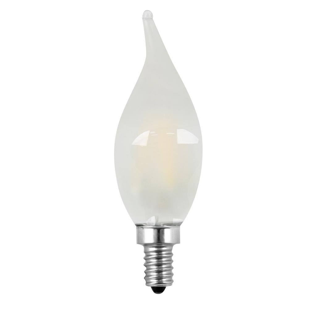 40W Equivalent Soft White CA10 Dimmable Frosted Filament LED Candelabra Base