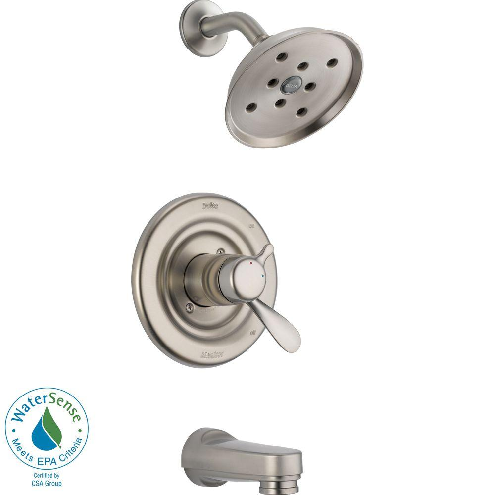 Delta Innovations 1-Handle H2Okinetic Tub and Shower Faucet Trim Kit in Stainless (Valve Not Included)