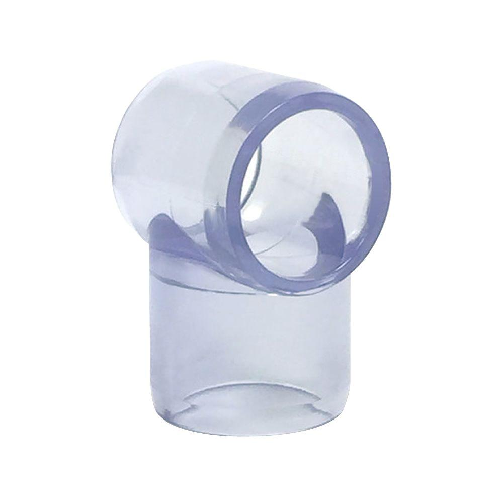 1-1/4 in. Furniture Grade PVC Slip Sling Tee in Clear