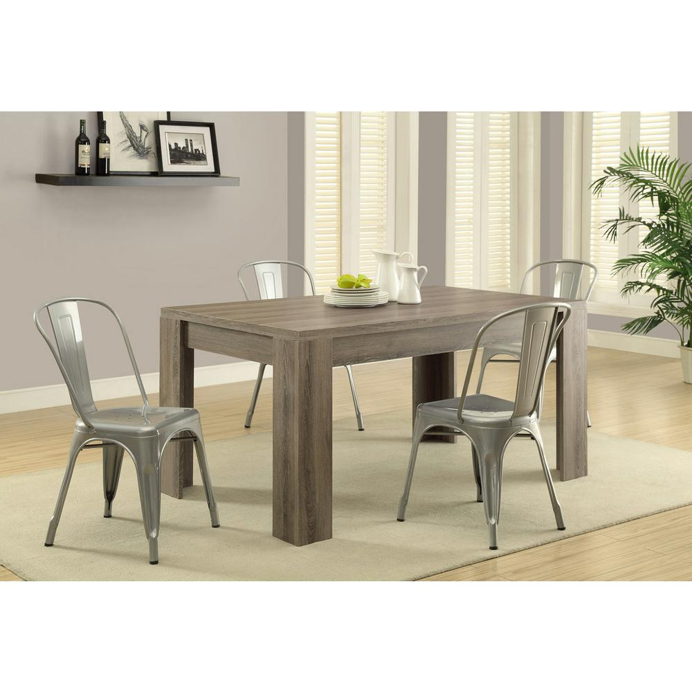Monarch 5Ft. Rectangular Dining Table in Dark Taupe