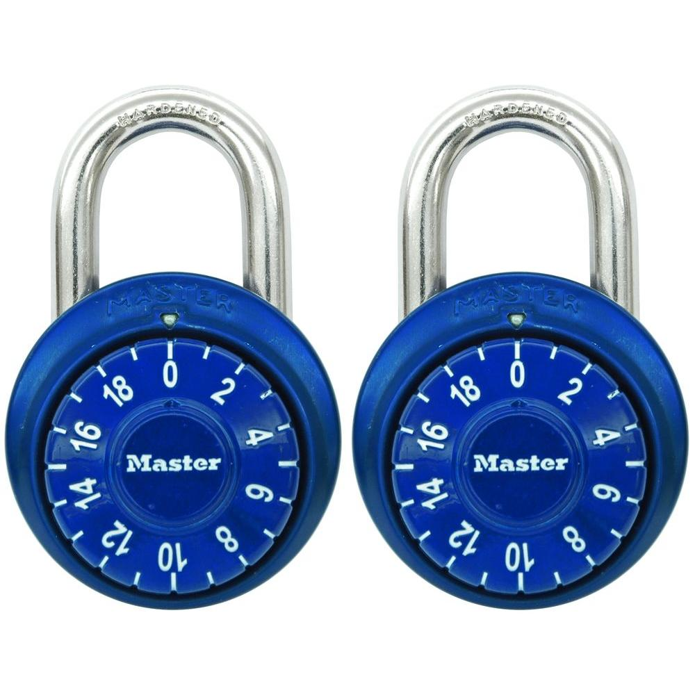 1-7/8 in. Metal Raised Dial Combination Padlock with Anodized Aluminum Cover