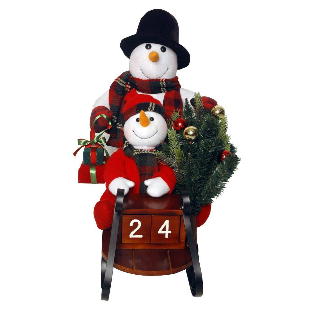 National Tree Company Plush Collection 28 in. Sleigh with Snowman and