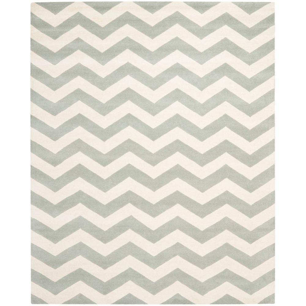 Chatham Grey/Ivory 11 ft. x 15 ft. Area Rug