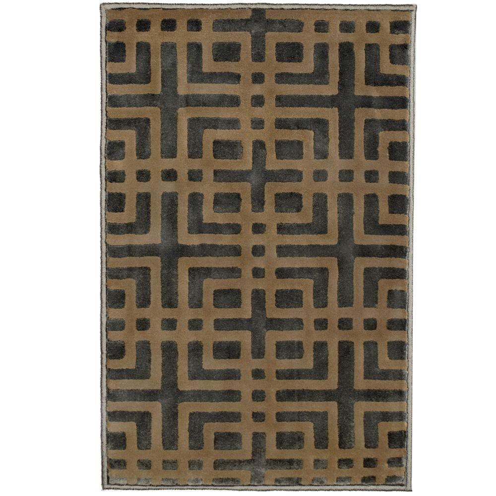Modern Indoor/Outdoor Accent Rug: Orian Rugs Rugs Fortner Gainsboro Grey 1 ft. 11 in. x 3 ft. 3 in. 243857