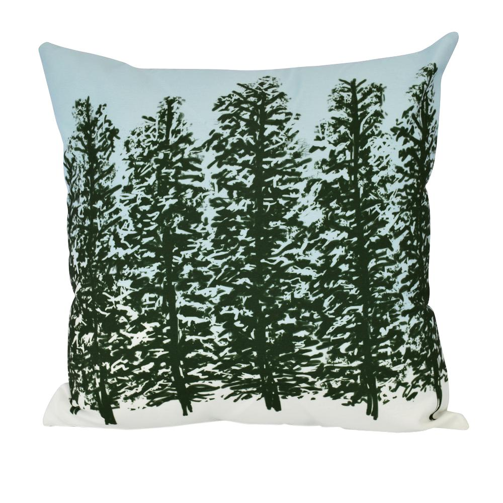 18 in. Hidden Forrest Floral Print Decorative Pillow