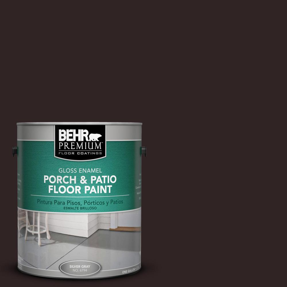 Behr premium 1 gal sc 104 cordovan brown gloss porch and - Chestnut brown exterior gloss paint ...